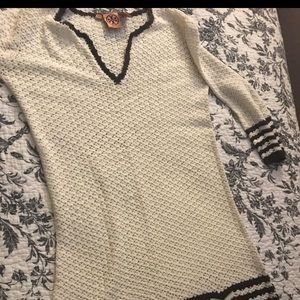 Tory Burch honeycomb knit sweater dress